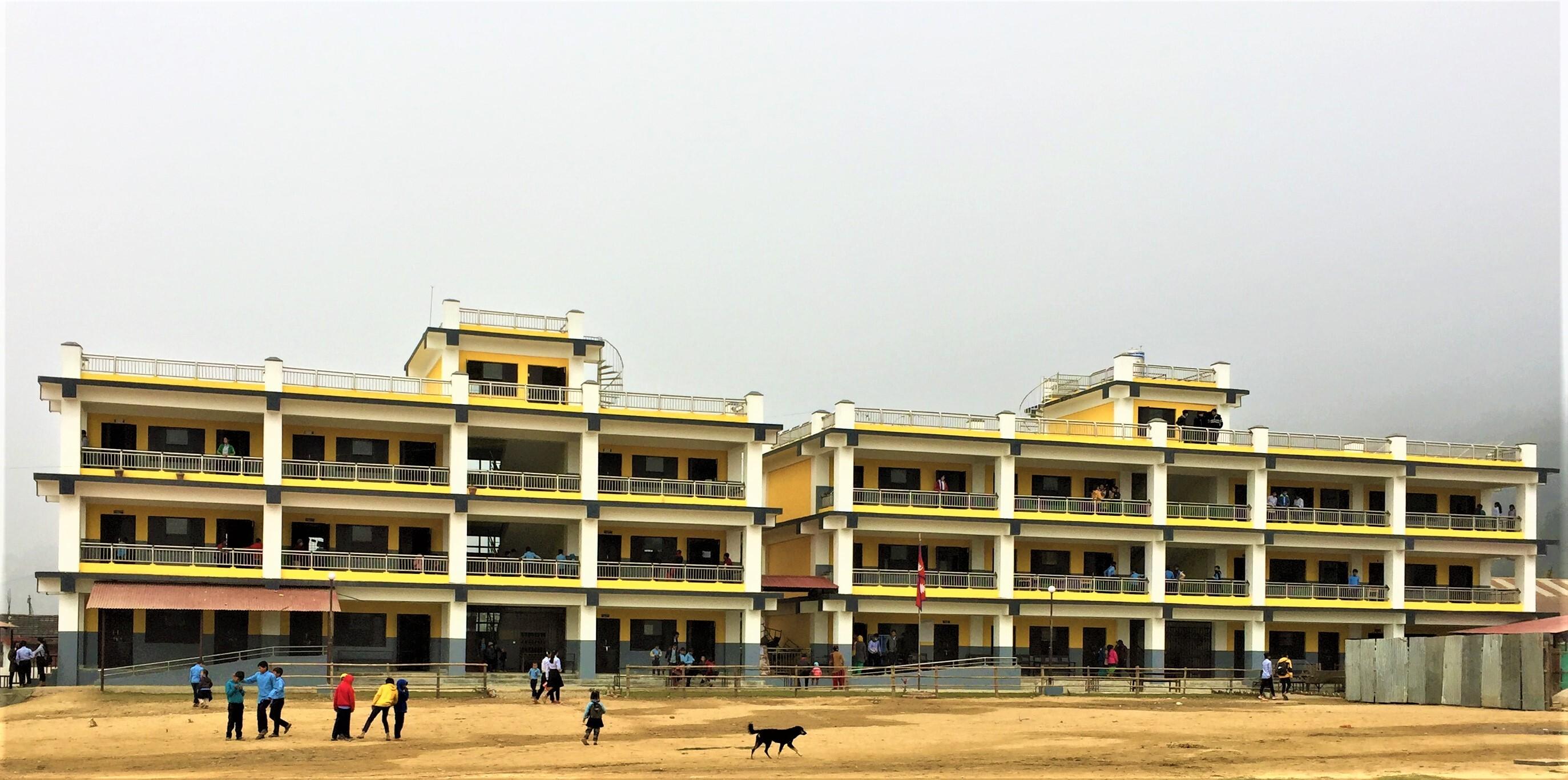 कपिलाकोट मा.वि. सिन्धुलीको पुनर्निर्मित भवनहरू