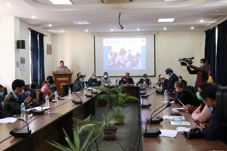 २०७२ को भूकम्पका ६ वर्ष पुगेको सन्दर्भमा आयोजित पत्रकार सम्मेलन