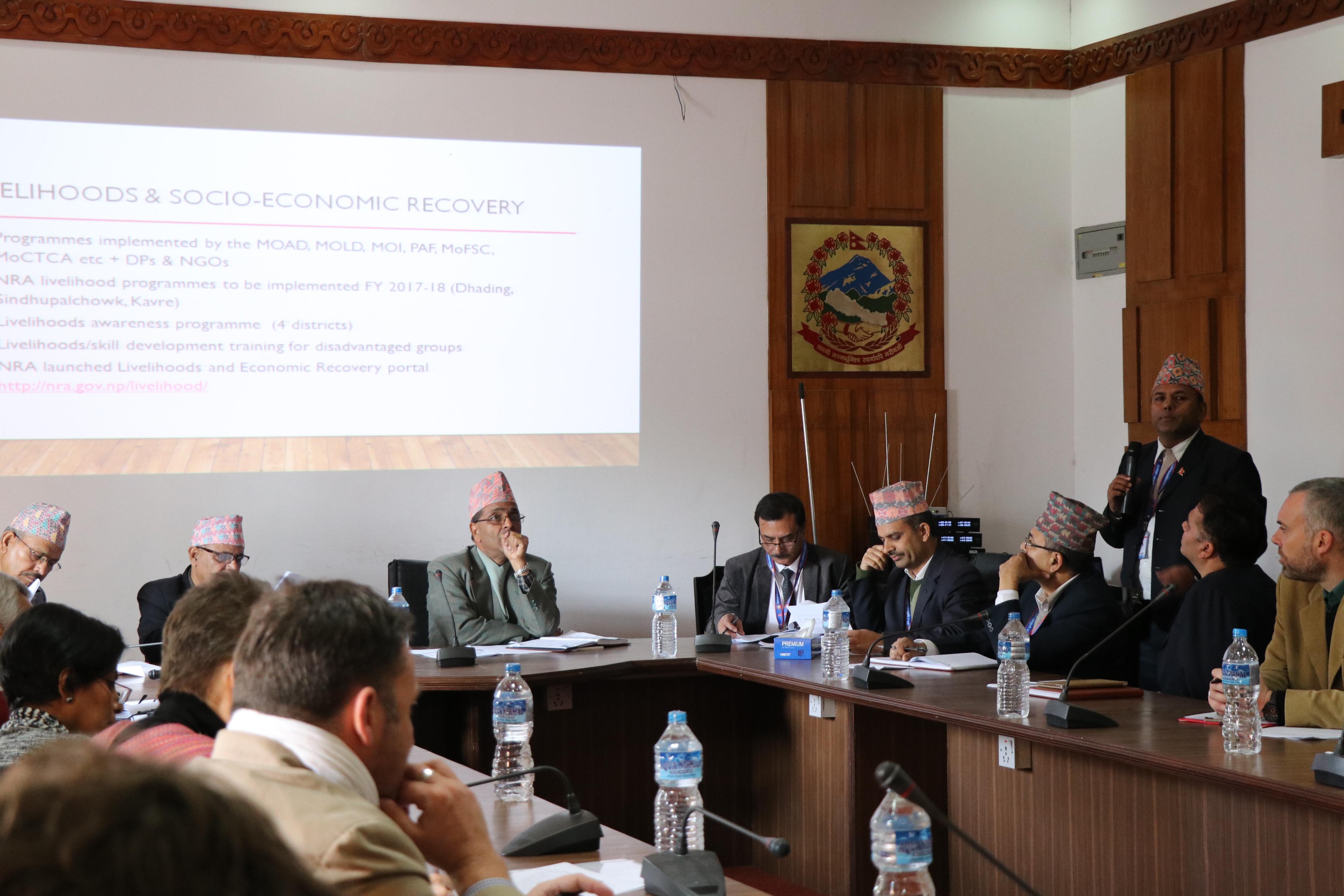दातृ निकायद्धारा पुनर्निर्माण प्रगतिको प्रशंसा