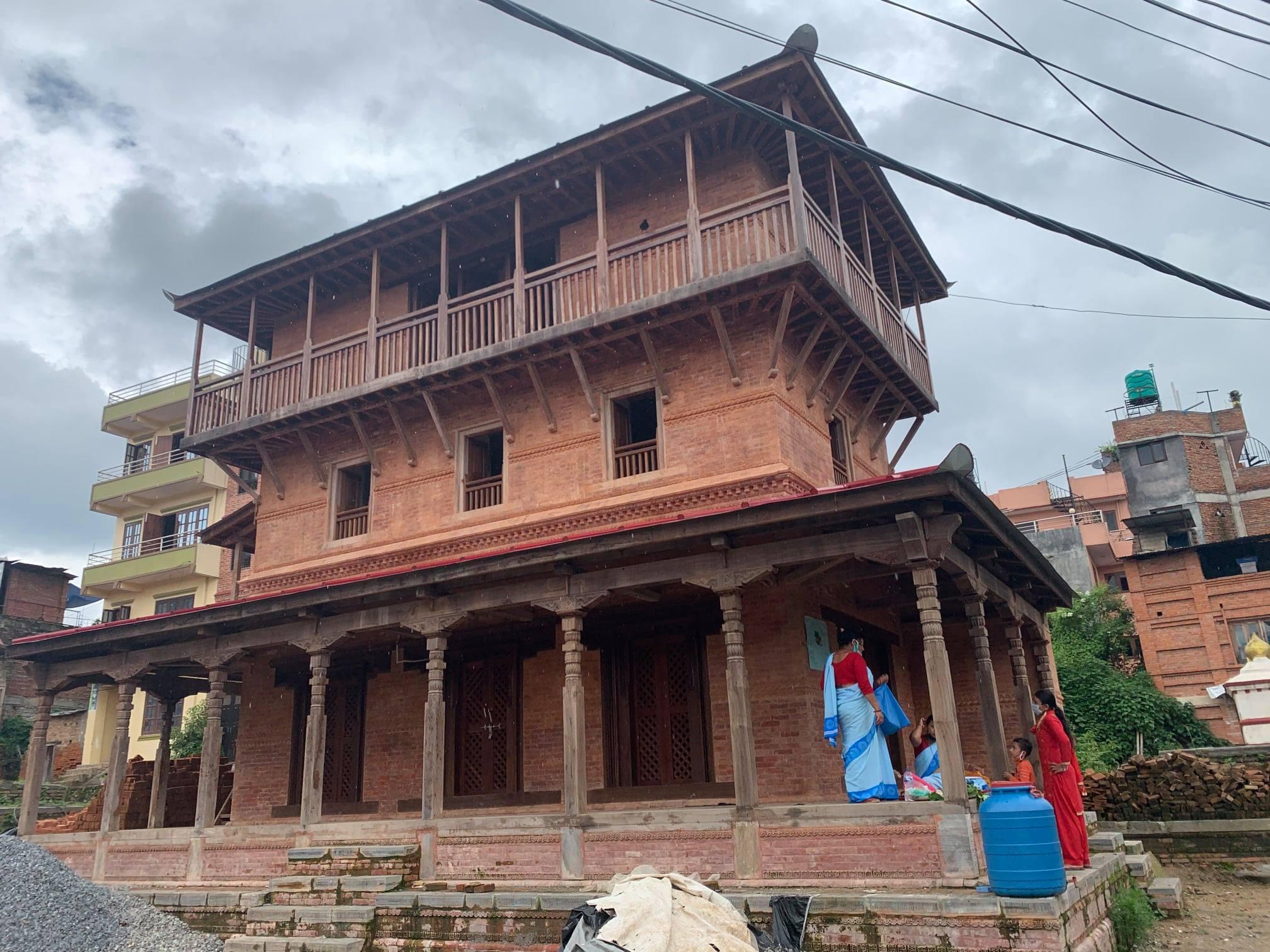 पुनर्निर्माण सम्पन्न भएको काठमाडौं सांखुस्थित न्याँक सत्तल