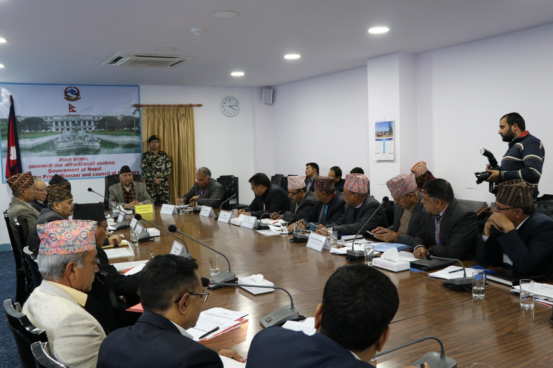 प्रधानमन्त्री केपी शर्मा ओलीको अध्यक्षतामा बसेको राष्ट्रिय पुनर्निर्माण प्राधिकरण निर्देशक समितिको १४ औँ बैठक
