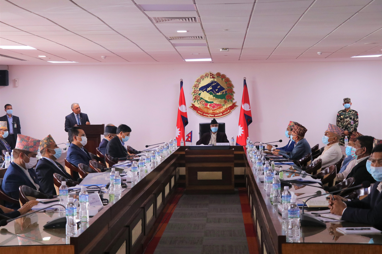 प्रधानमन्त्री शेरबहादुर देउवाको अध्यक्षतामा बसेको निर्देशक समितिको बैठक